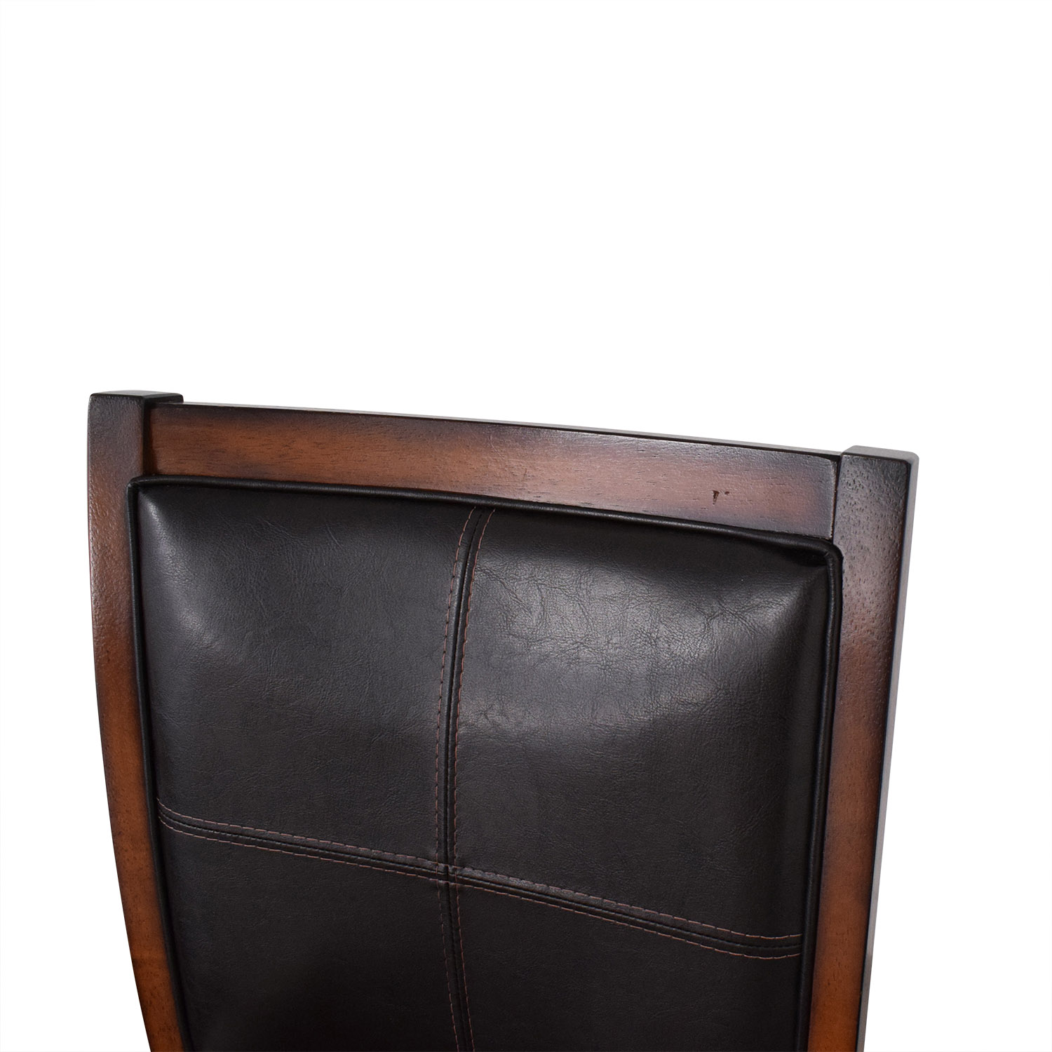 Raymour & Flanigan Raymour & Flanigan Upholstered Dining Chairs brown & black