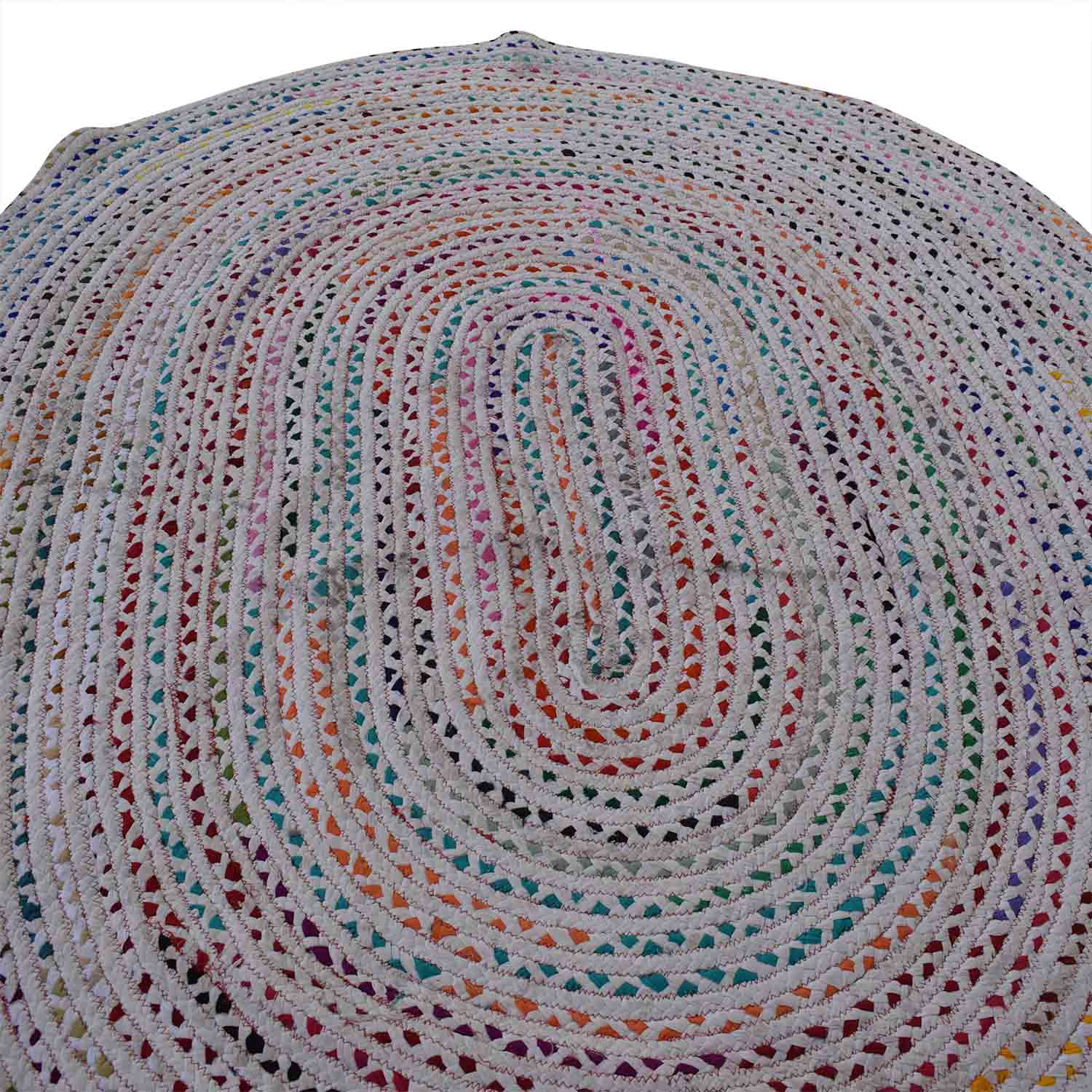 Oval Woven Rug second hand