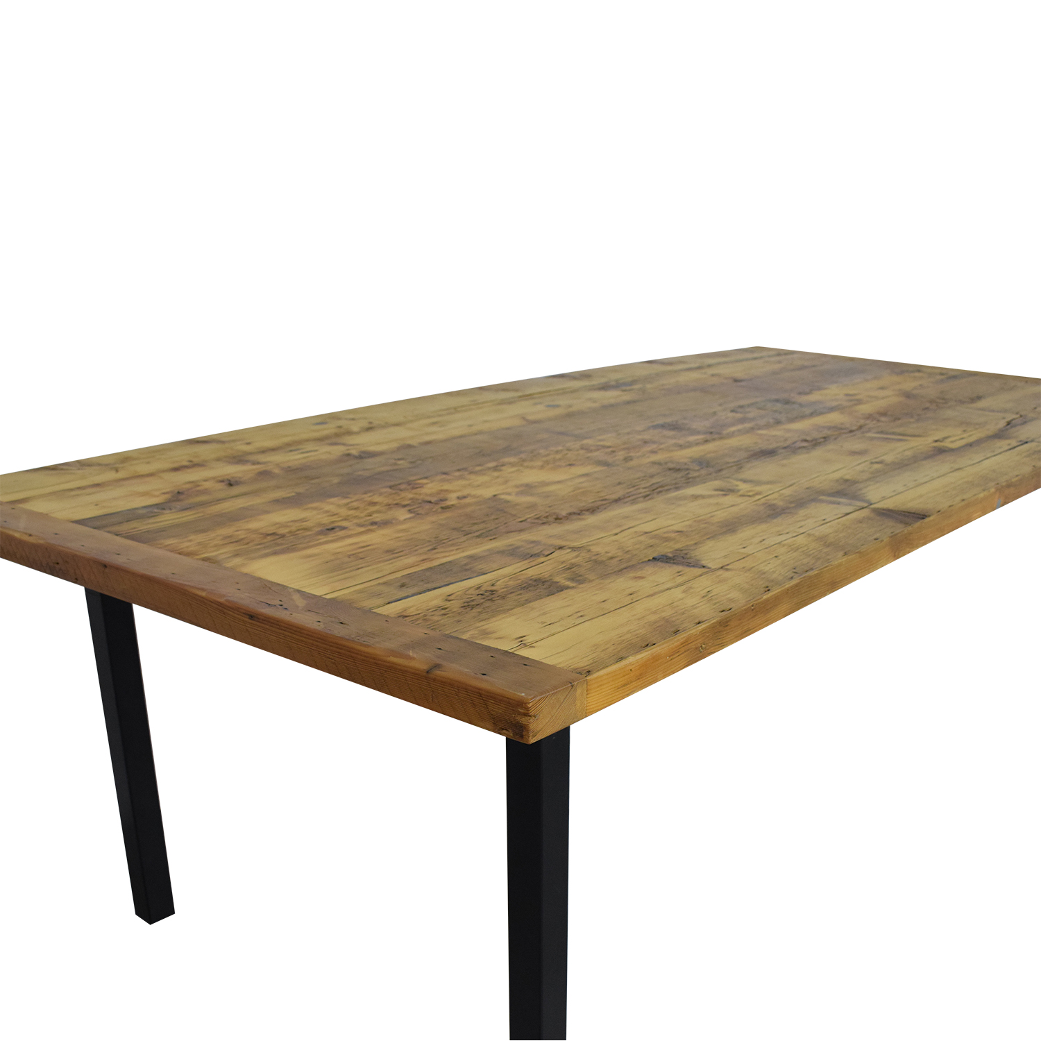 Reclaimed Dining Table brown and black