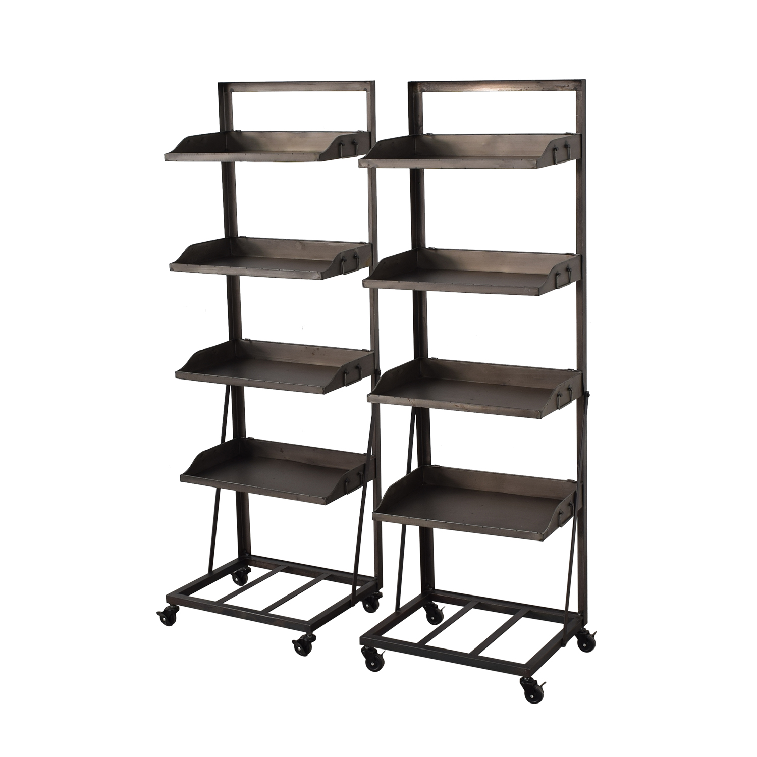 Bookshelves with Wheels used