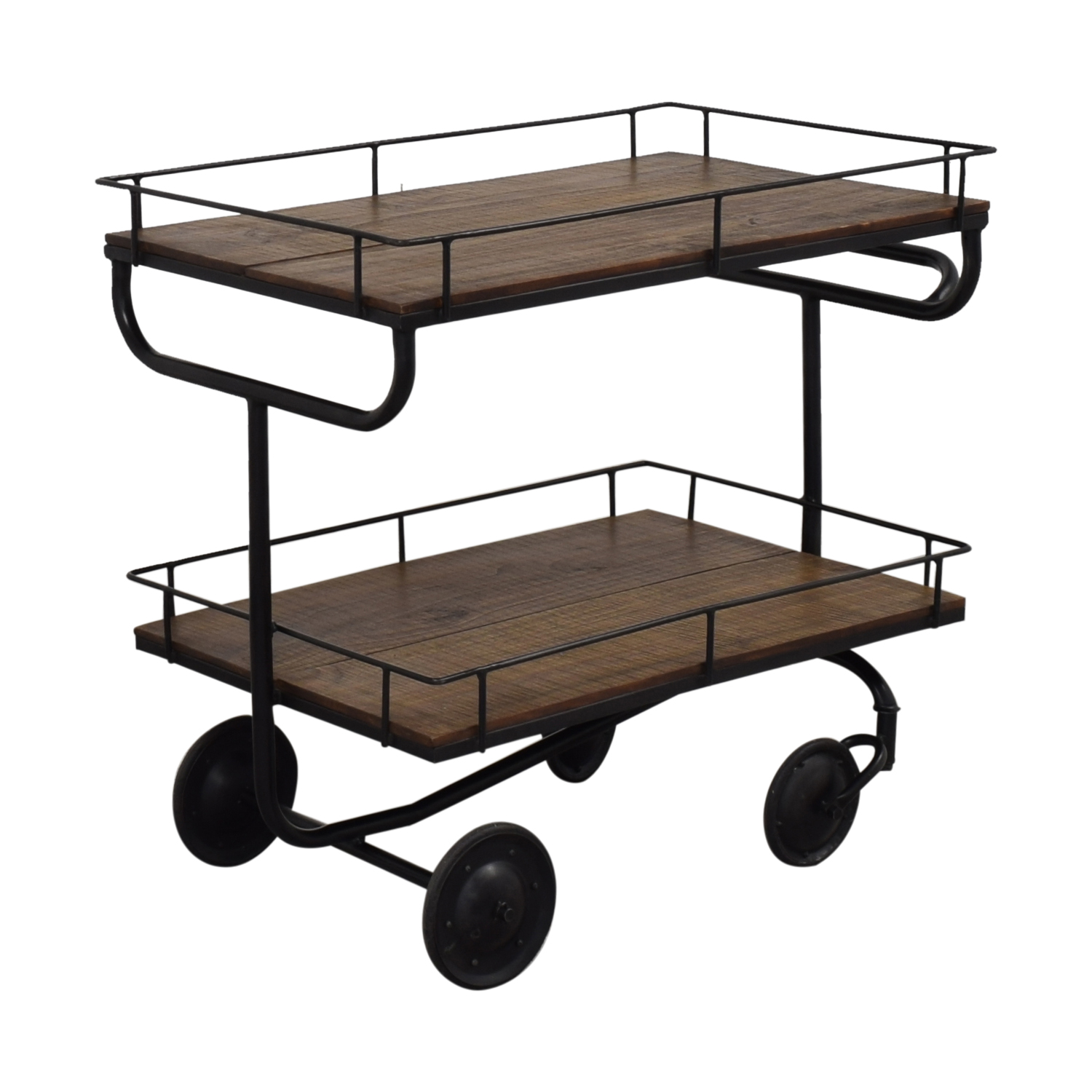 Restoration Hardware Warehouse Trolley Bar Cart / Tables