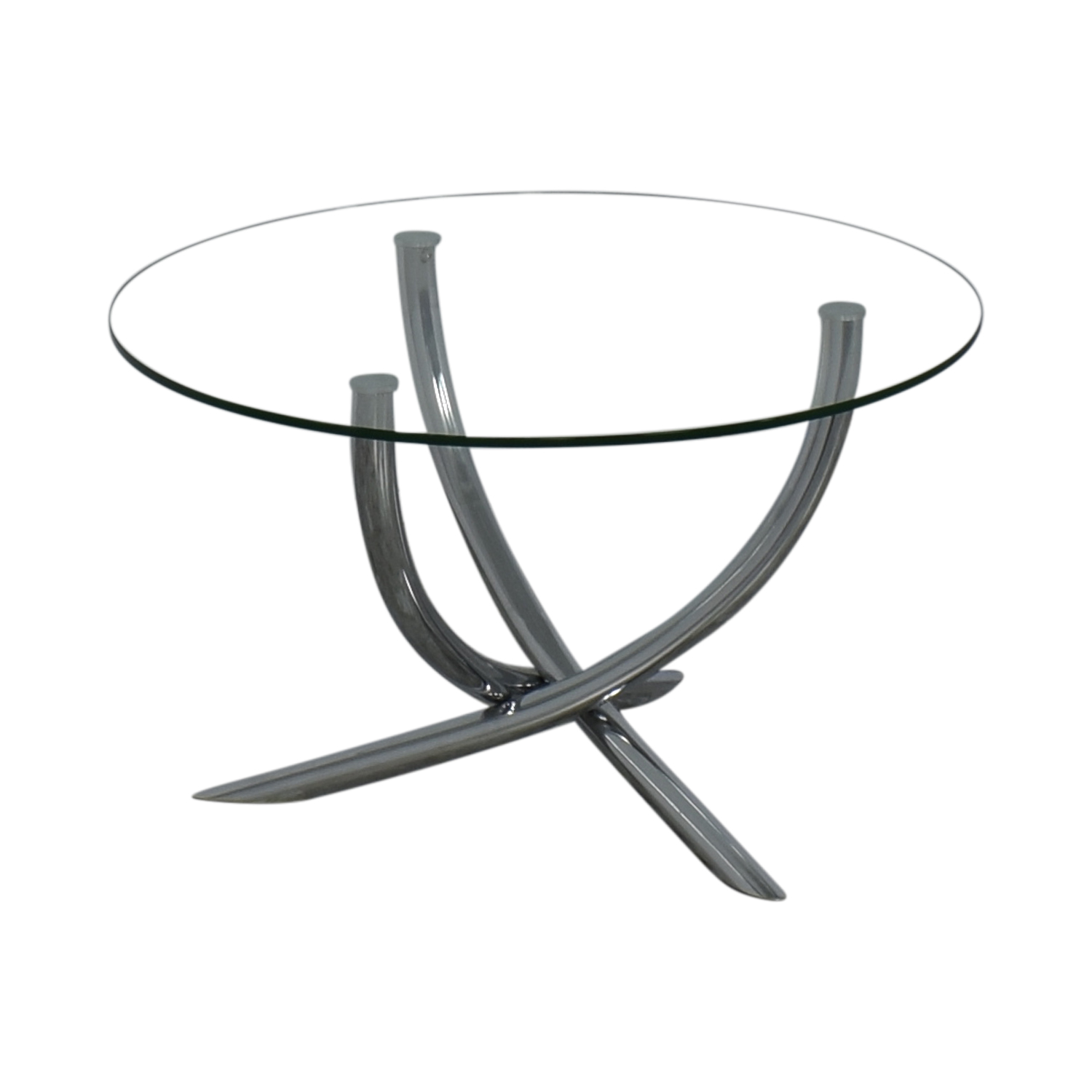 Round Glass Top Dining Table used