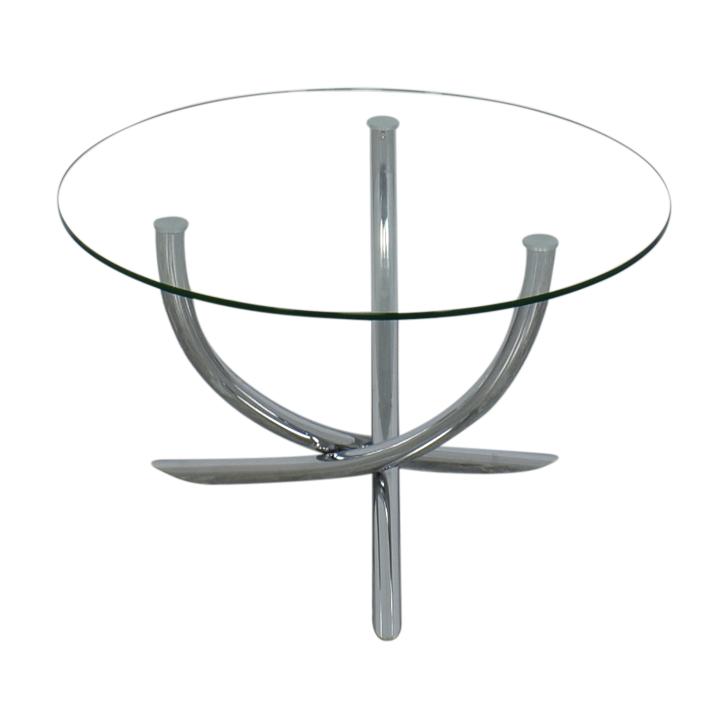 buy Round Glass Top Dining Table  Coffee Tables