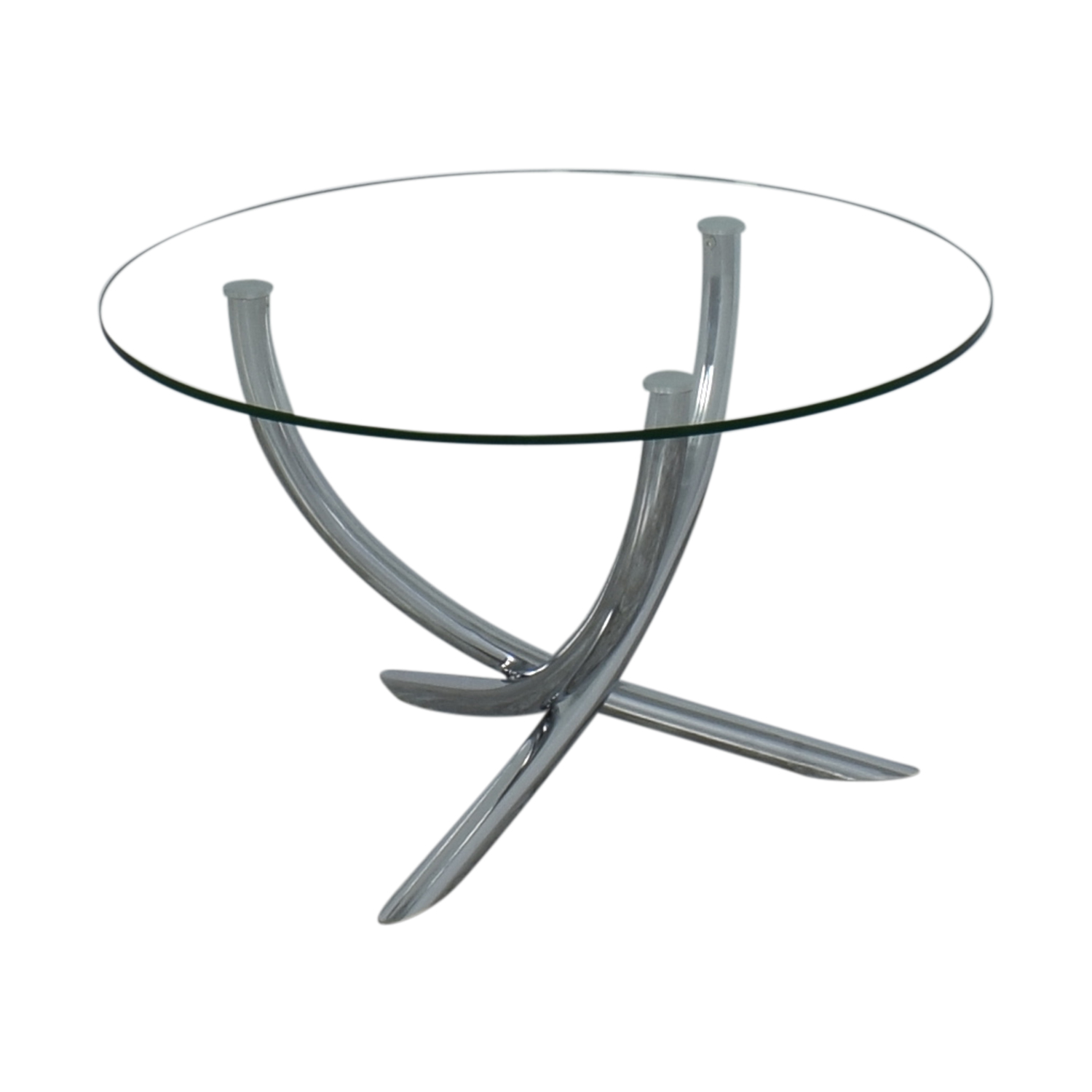 Round Glass Top Dining Table nyc