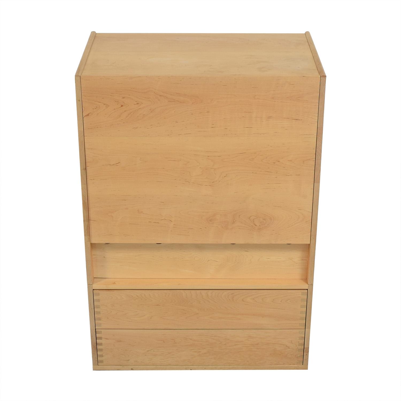 shop Custom Minimalist Dresser with Fold Down Level  Storage