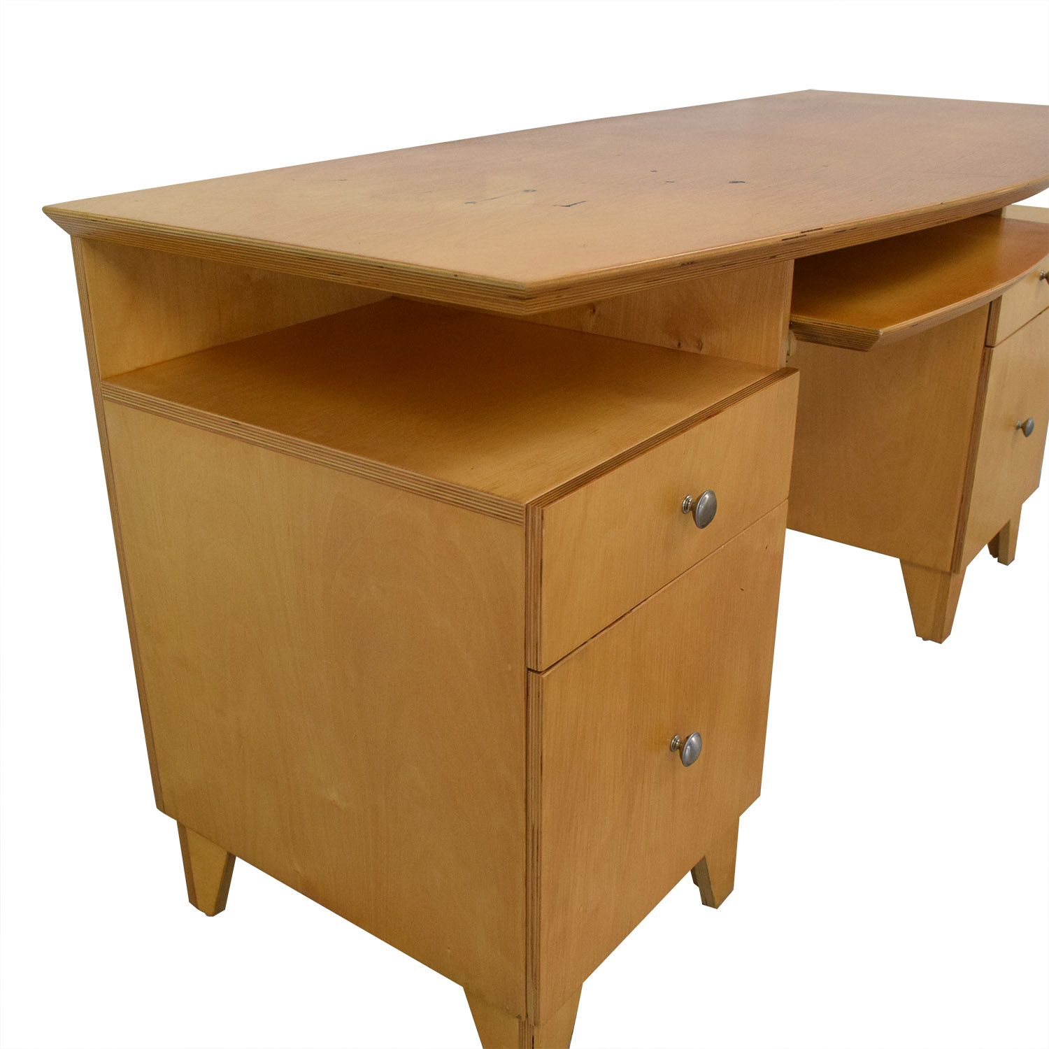 Modernist Desk with Pull-Out Keyboard Tray on sale
