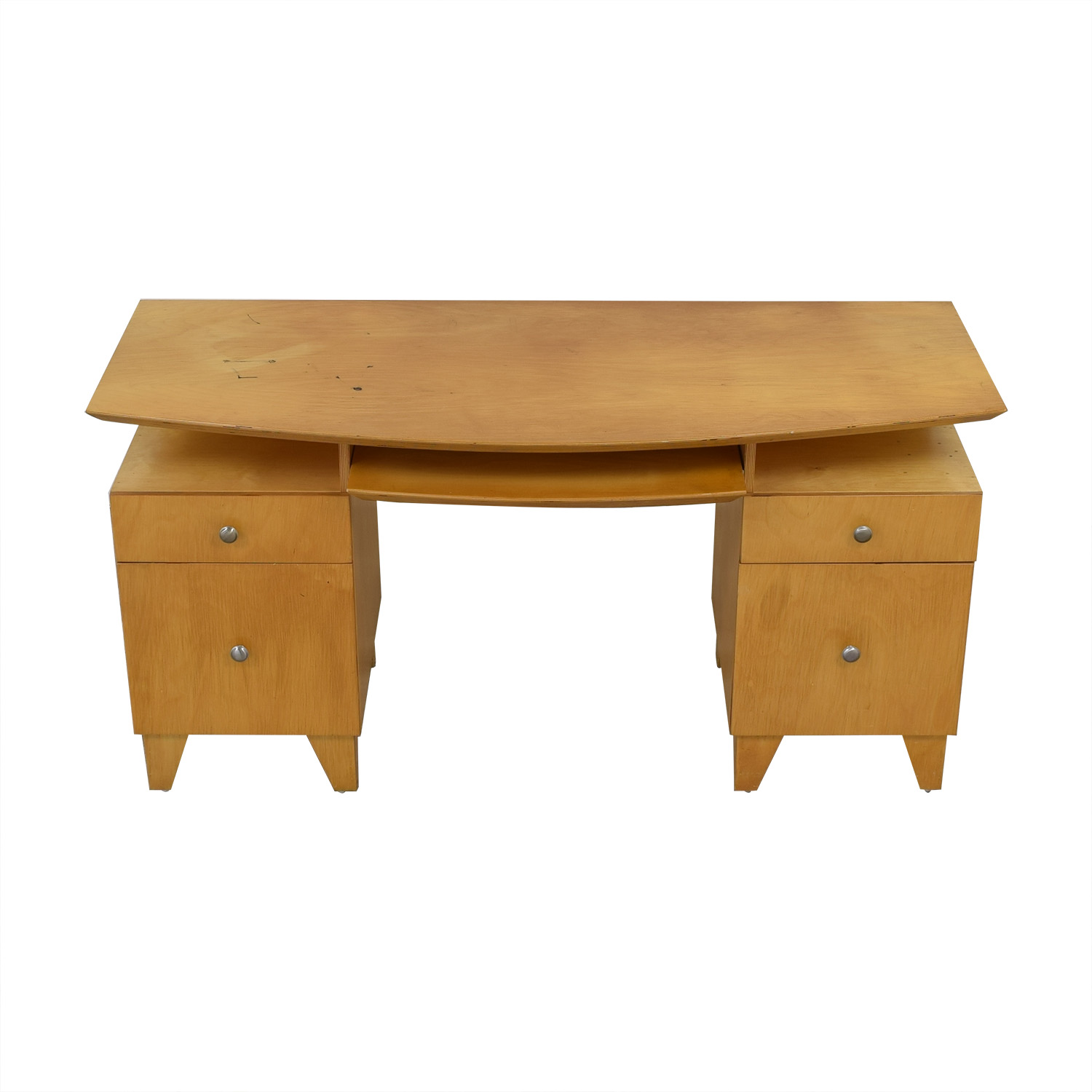 Modernist Desk with Pull-Out Keyboard Tray nj