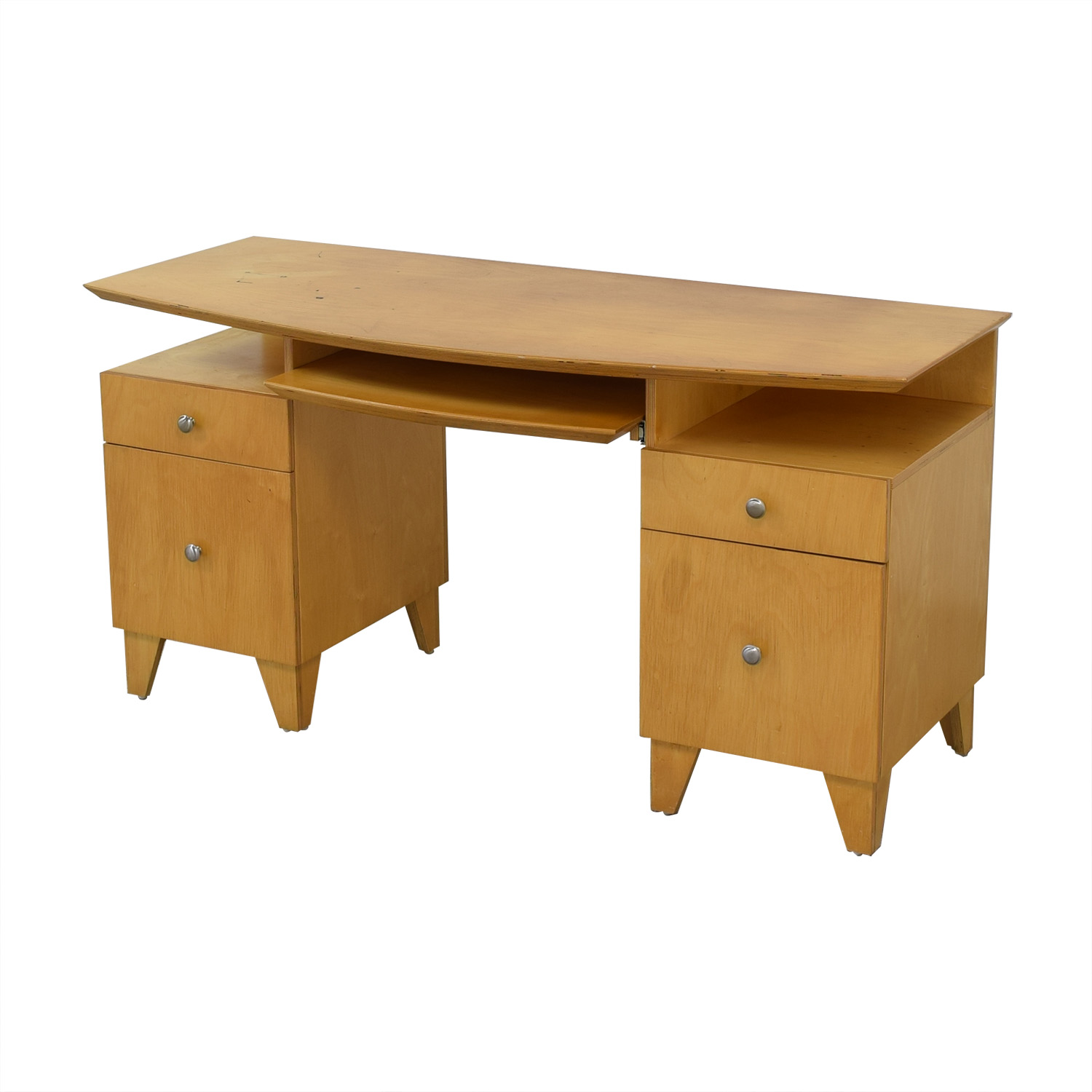 Modernist Desk with Pull-Out Keyboard Tray Home Office Desks