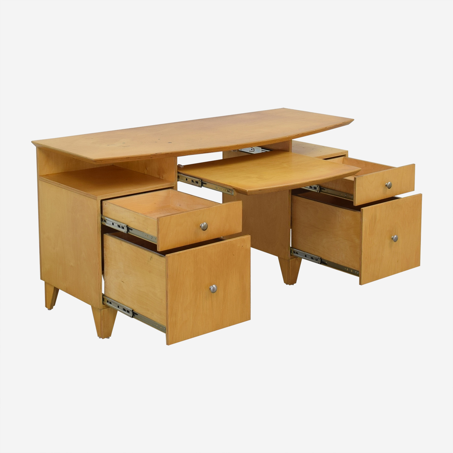 buy Modernist Desk with Pull-Out Keyboard Tray  Tables