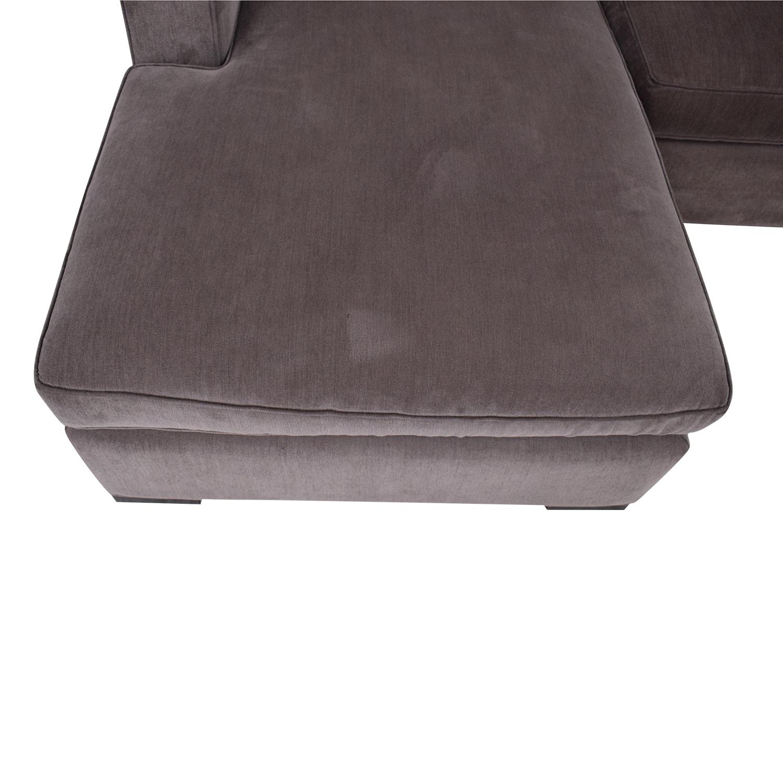 Room & Board Room & Board Ian Sectional Sofa with Chaise dark grey