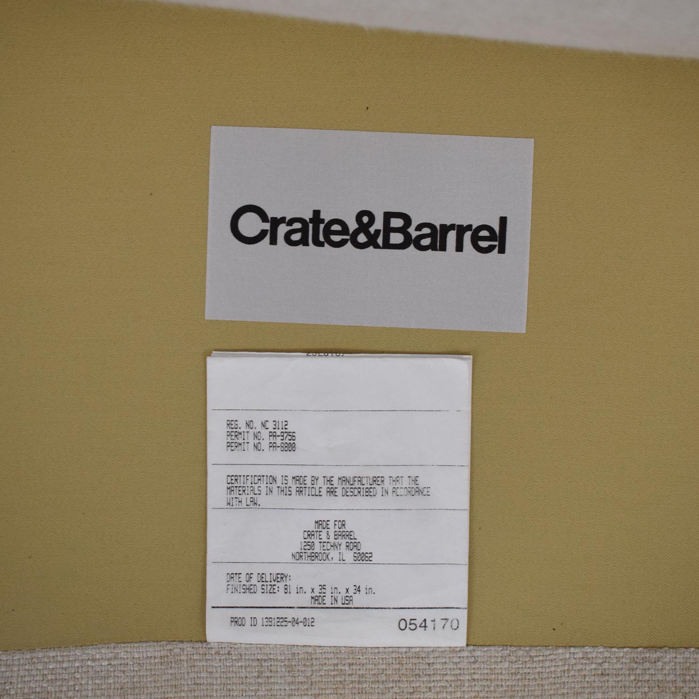 Crate & Barrel Crate & Barrel Trevor Apartment Sofa in Oatmeal nj
