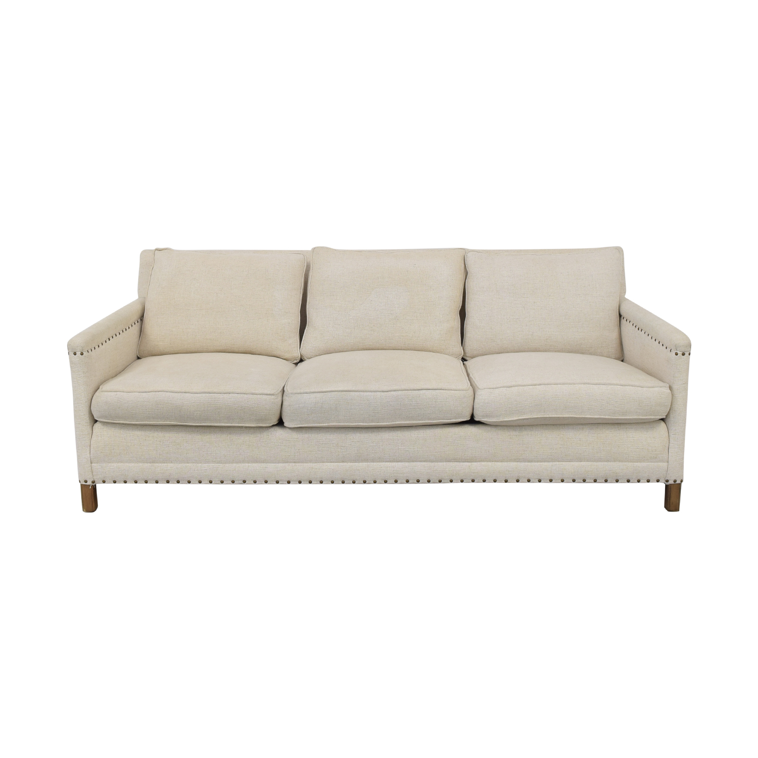 Crate & Barrel Crate & Barrel Trevor Apartment Sofa in Oatmeal discount