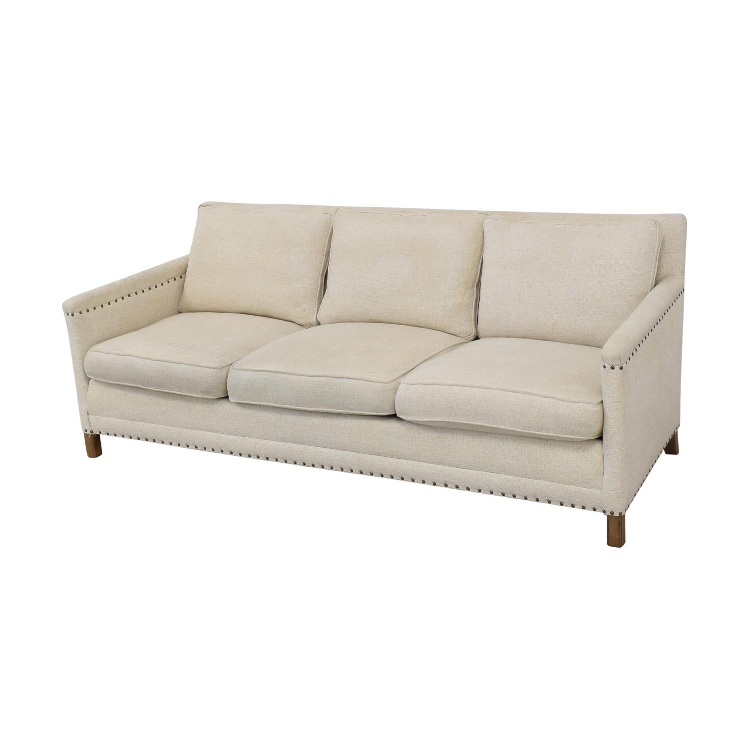 68% OFF - Crate & Barrel Crate & Barrel Trevor Apartment Sofa in Oatmeal /  Sofas