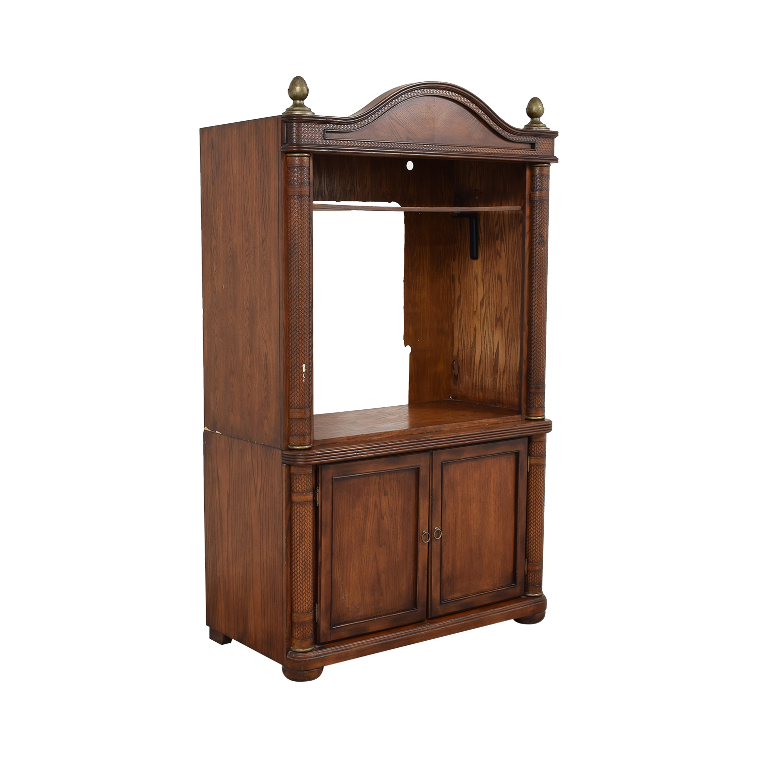 Rustic Media Armoire Unit second hand