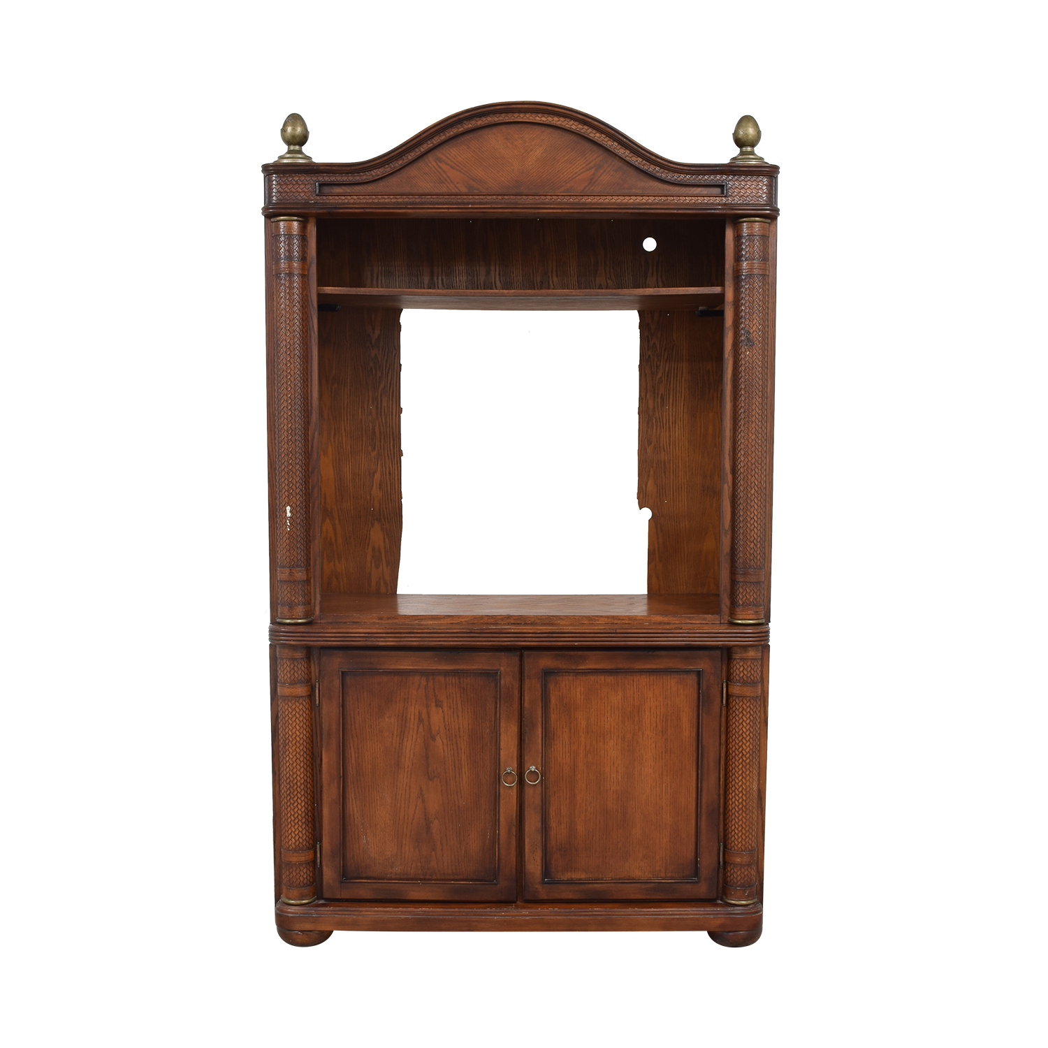 Rustic Media Armoire Unit