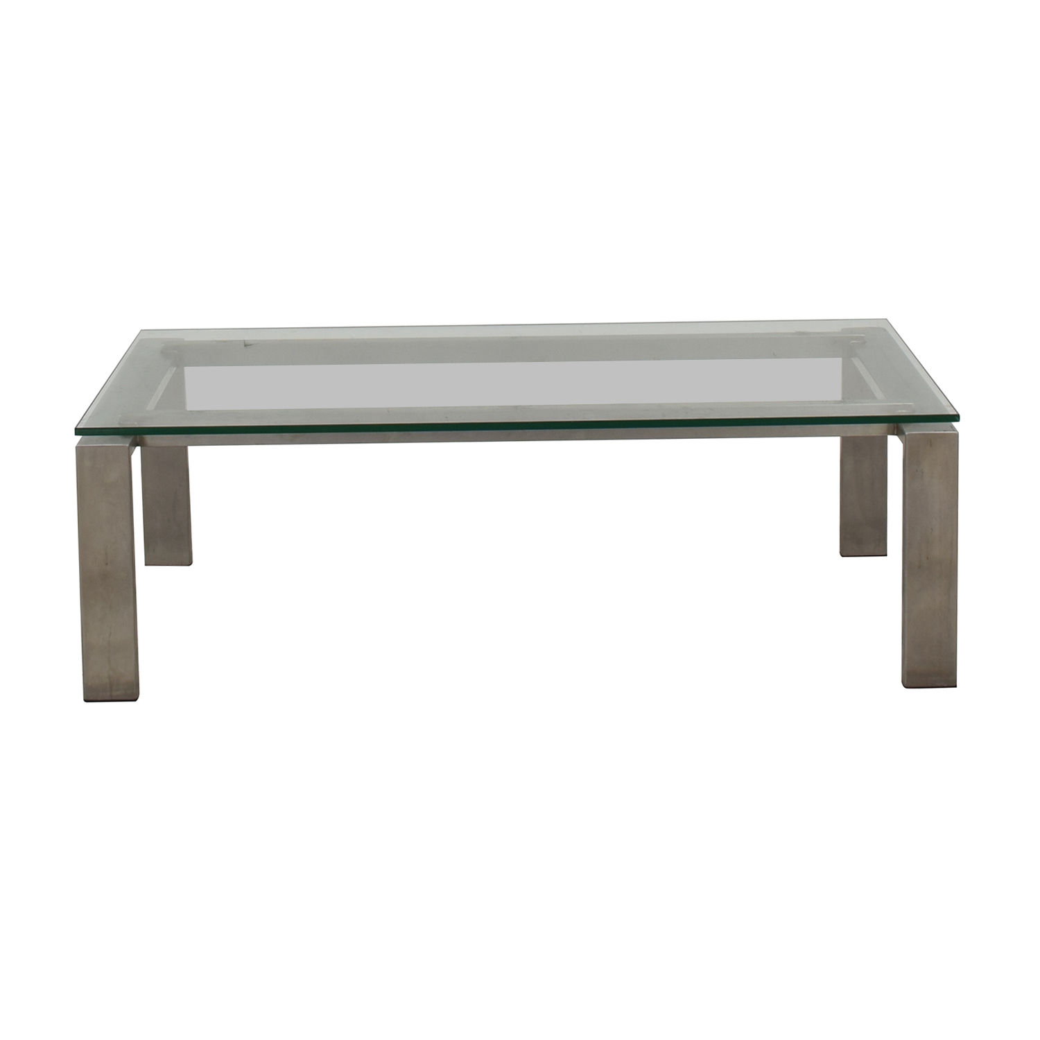 Room & Board Room & Board Glass Coffee Table silver