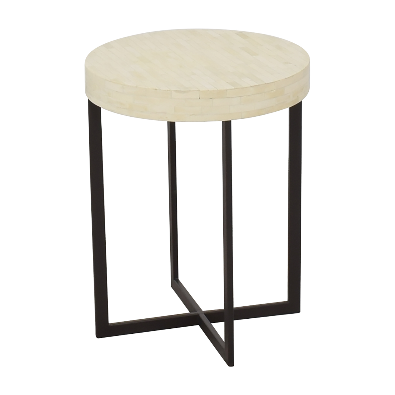 West Elm Bone Side Table sale