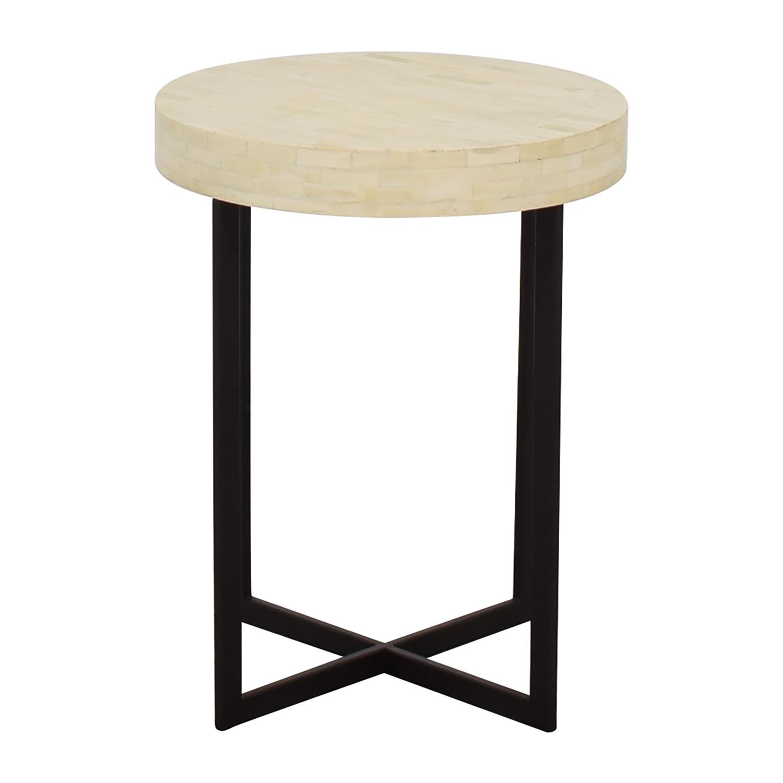 West Elm West Elm Bone Side Table white and black