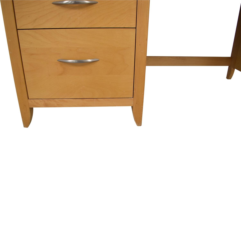 Nebraska Furniture Mart Desk with Hutch sale