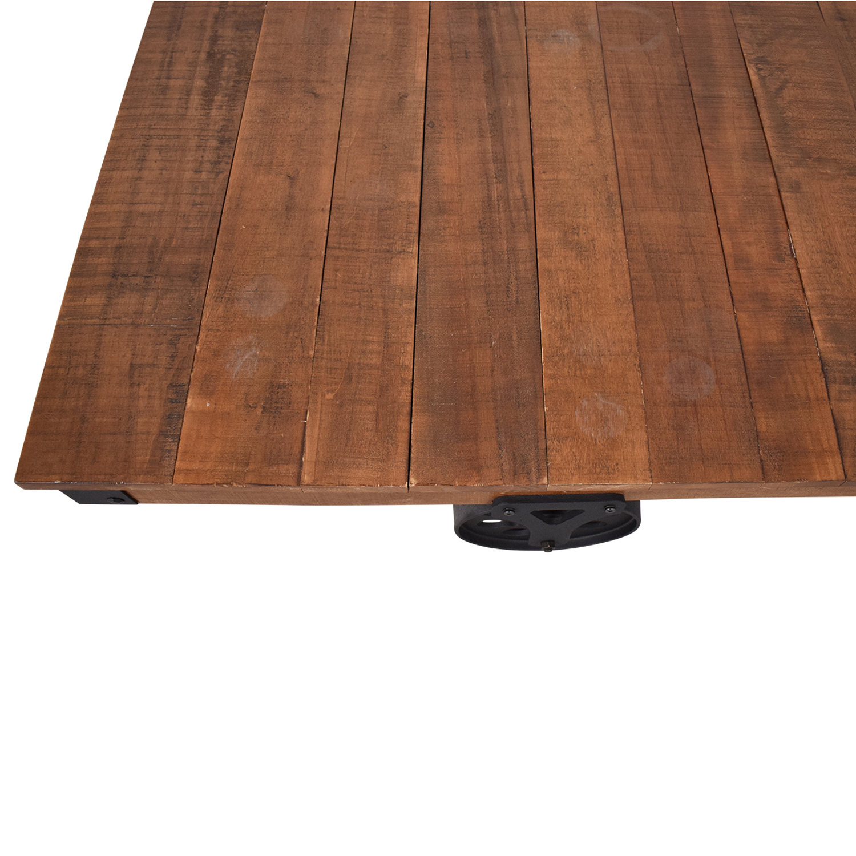 buy Rustic Distressed Wheel Coffee Table  Coffee Tables