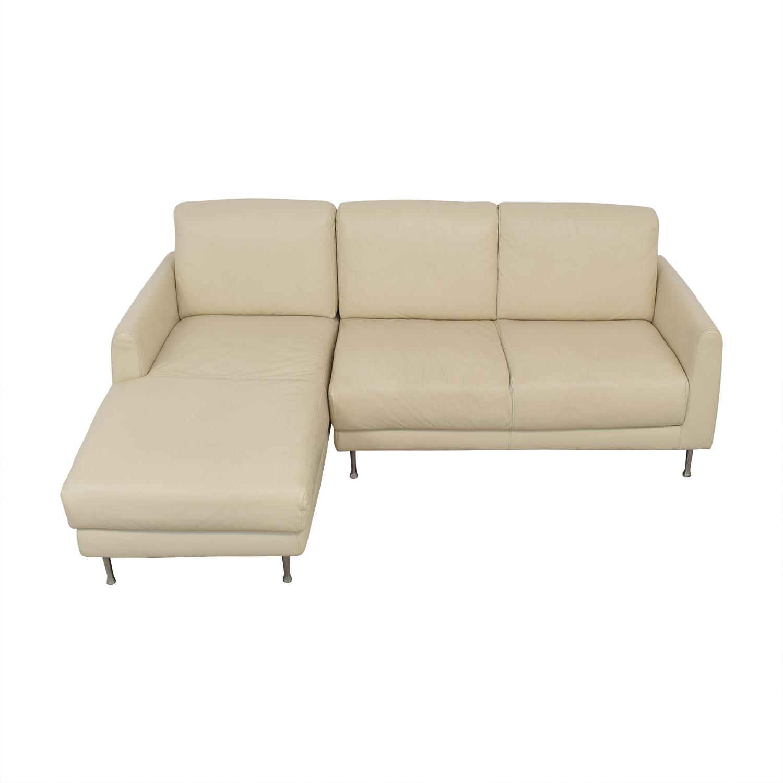 54 off ikea ikea leather sectional sofa sofas