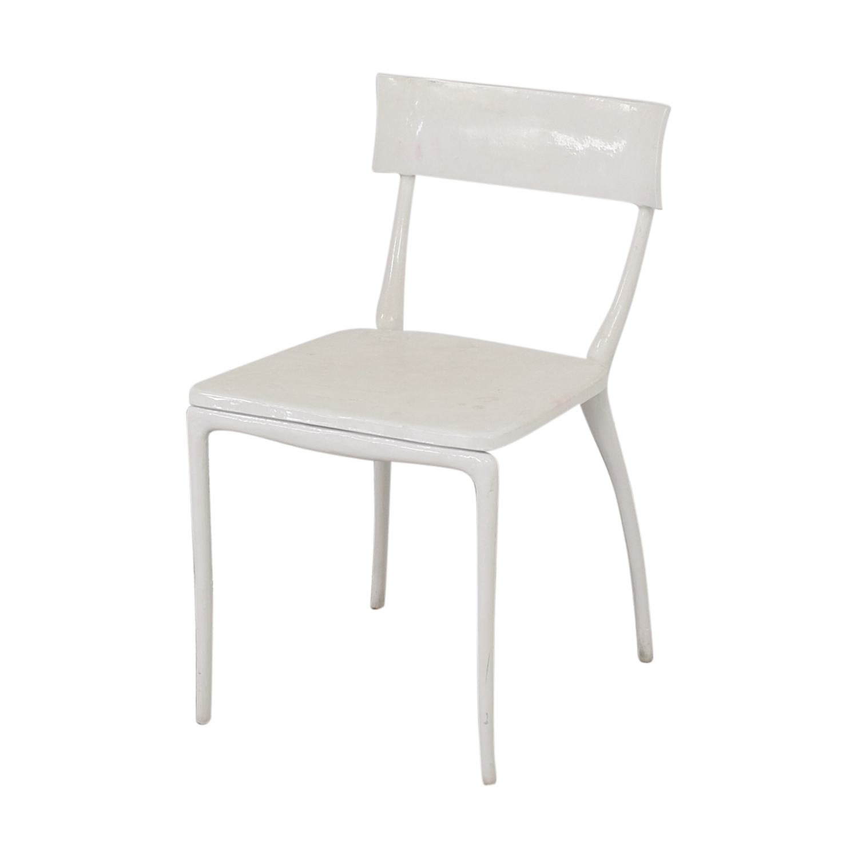 CB2 CB2 Midas White Dining Chairs price