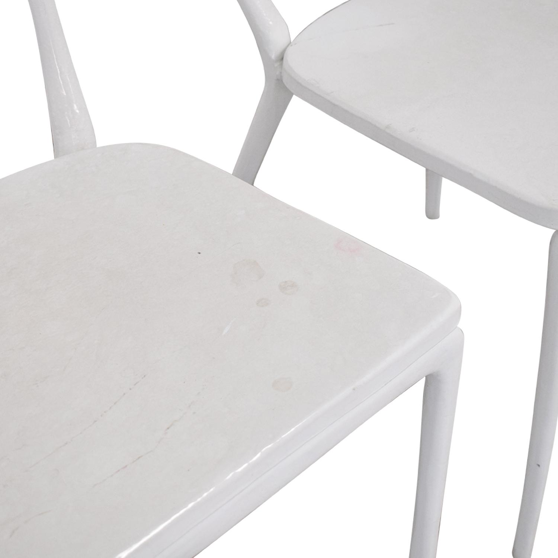 CB2 CB2 Midas White Dining Chairs nj