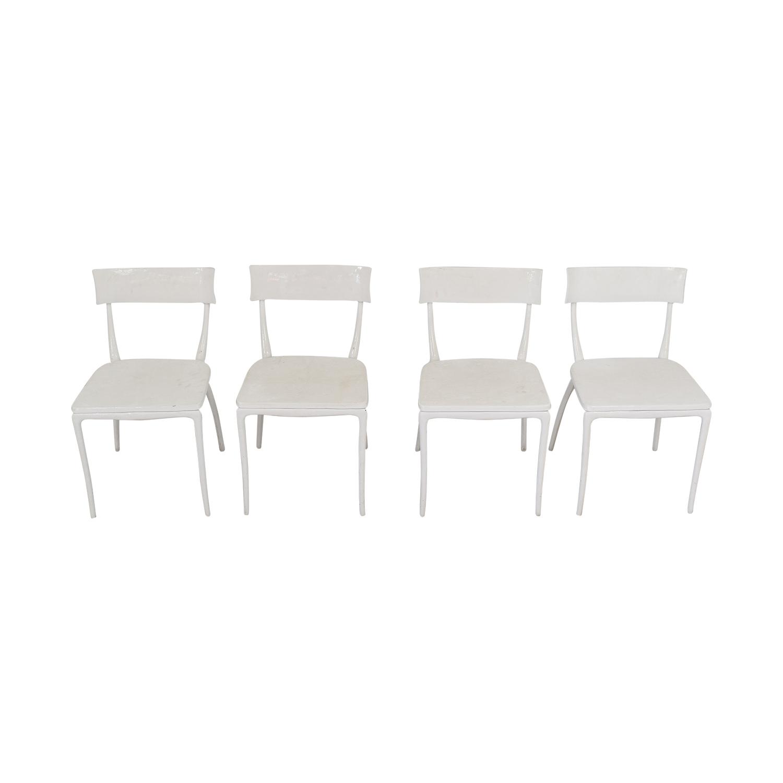 buy CB2 CB2 Midas White Dining Chairs online