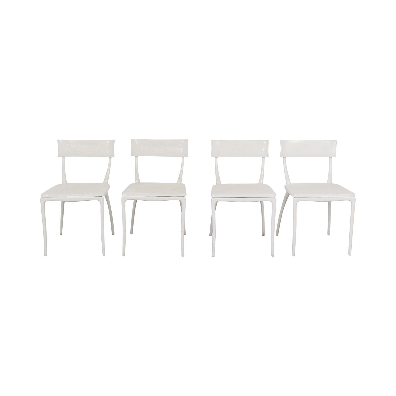 CB2 CB2 Midas White Dining Chairs ct