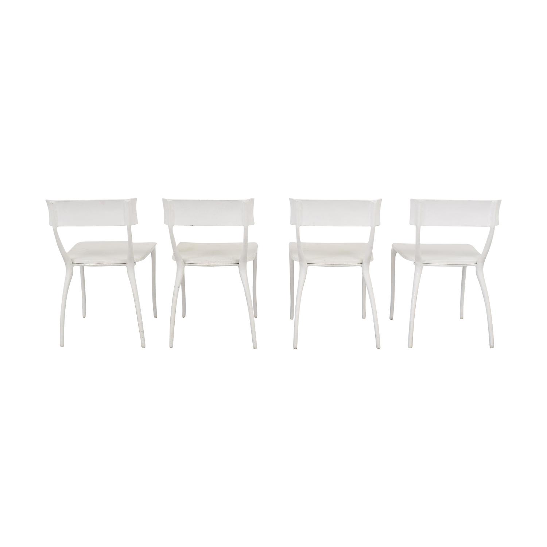 CB2 CB2 Midas White Dining Chairs white