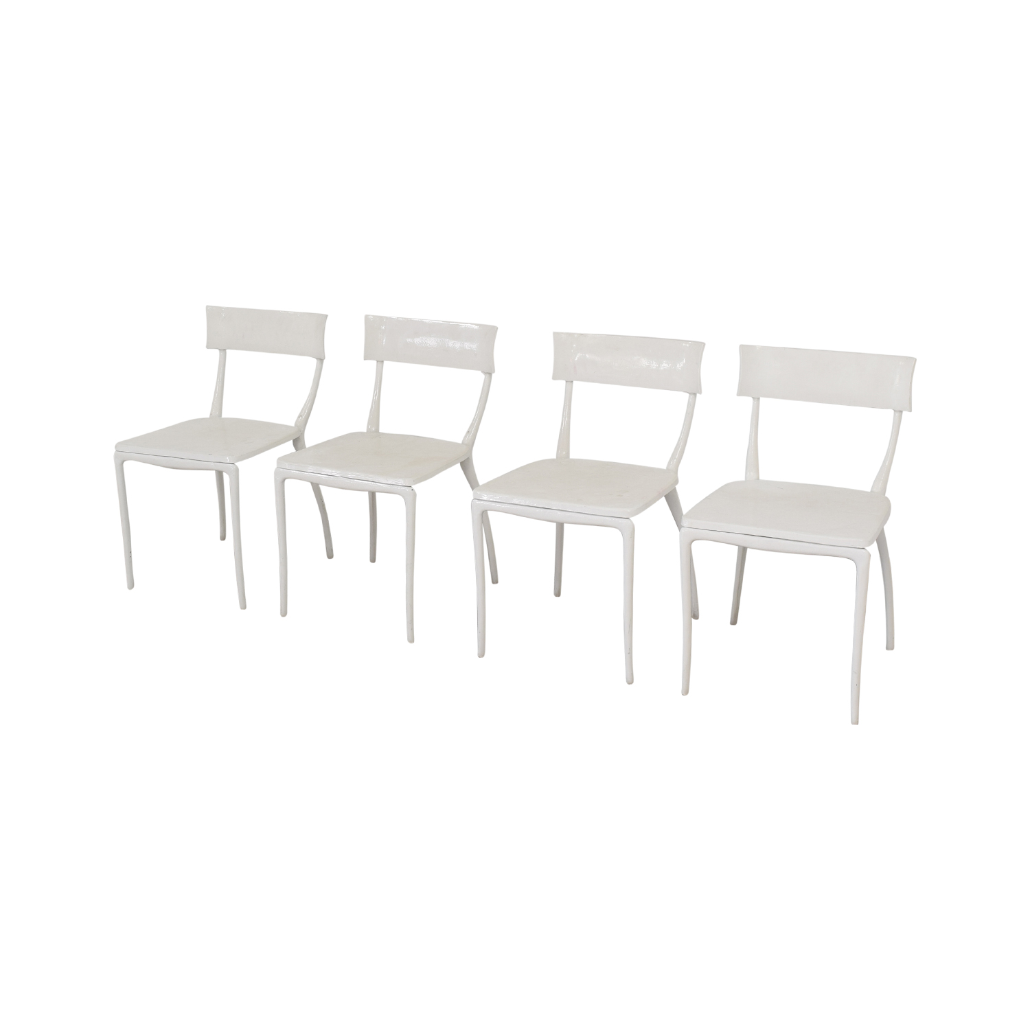 CB2 Midas White Dining Chairs / Chairs