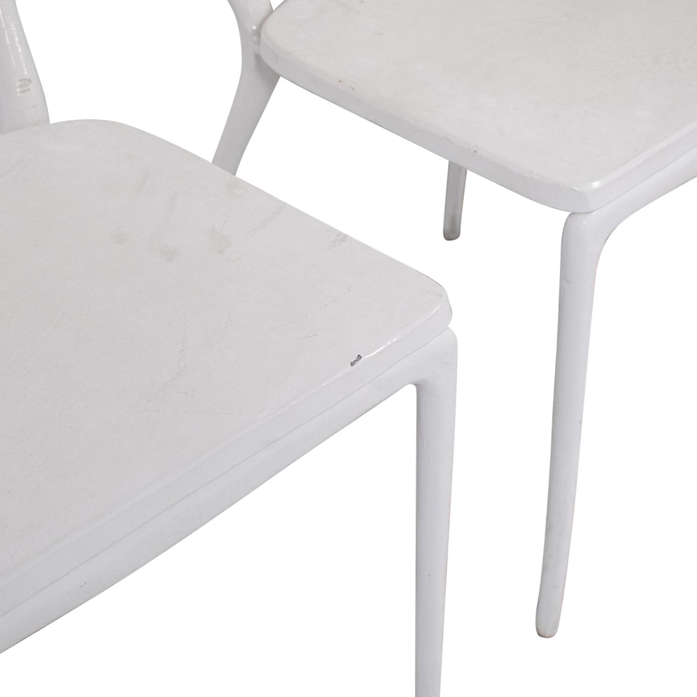 CB2 CB2 Midas White Dining Chairs