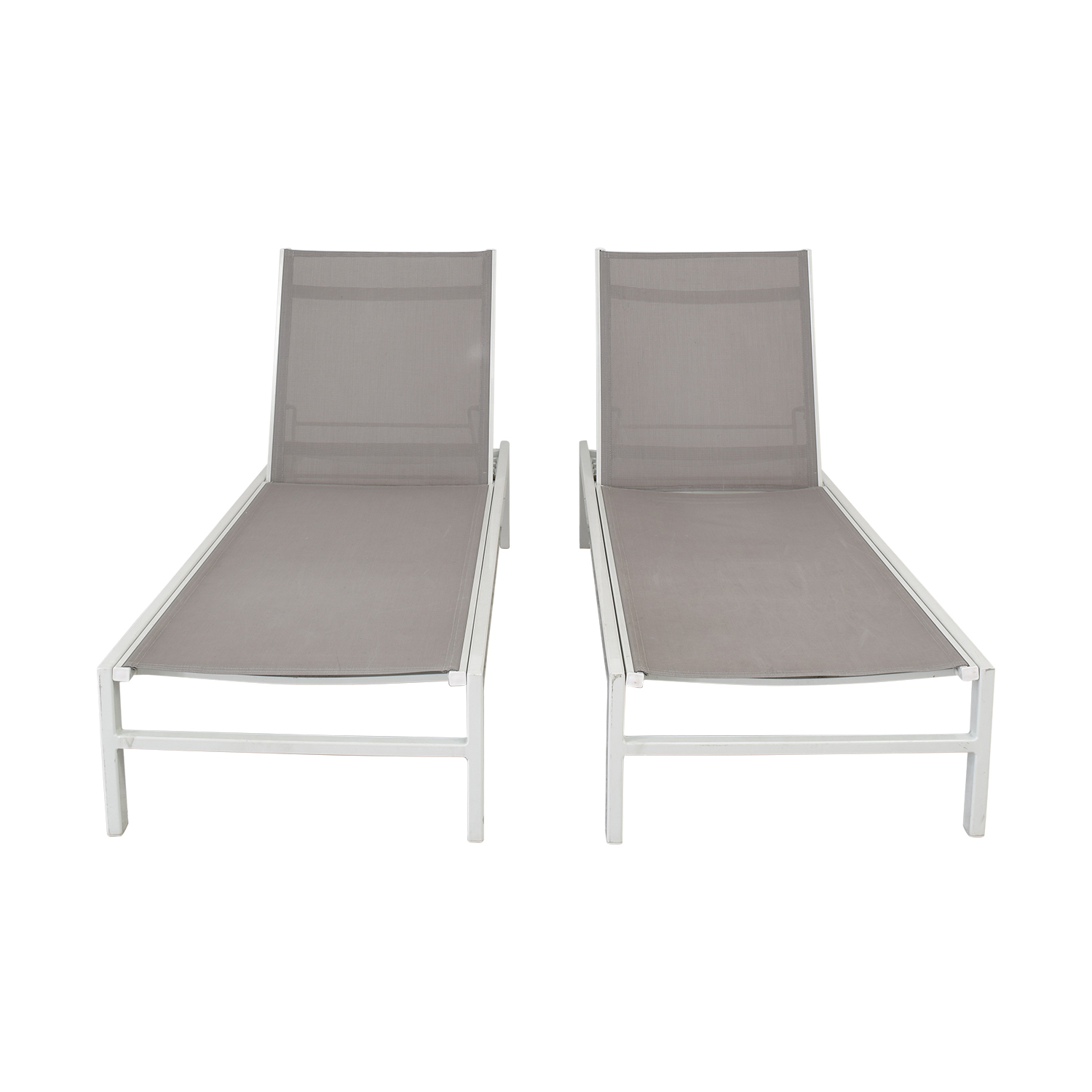 CB2 CB2 Idle Outdoor Chaise Lounges for sale