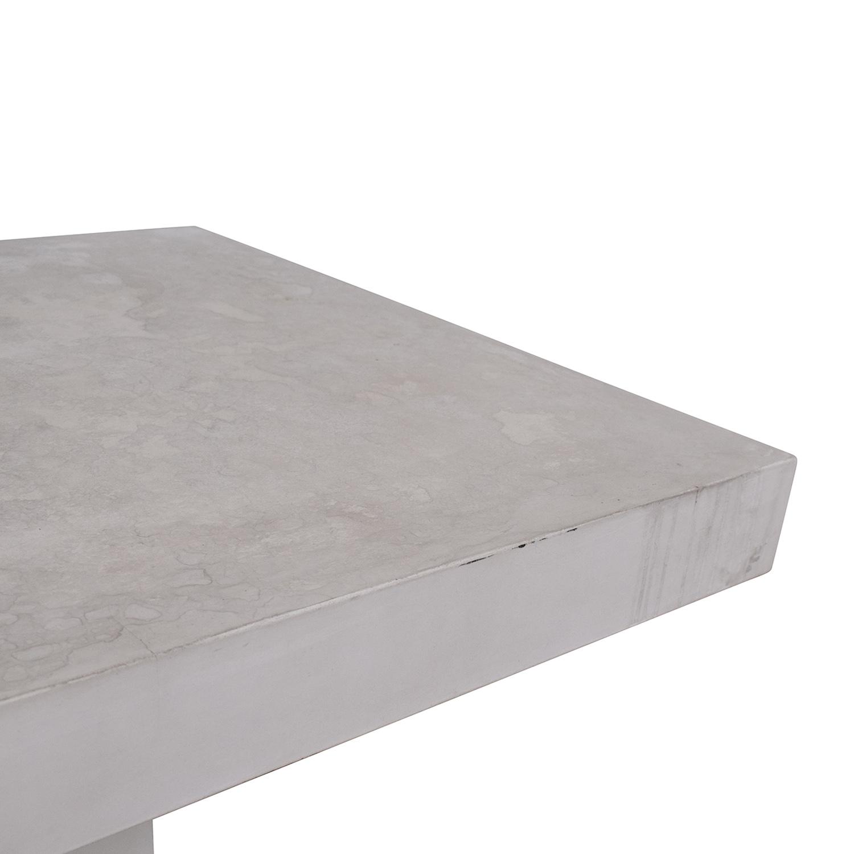 CB2 CB2 Fuze Ivory White Stone Dining Table ma