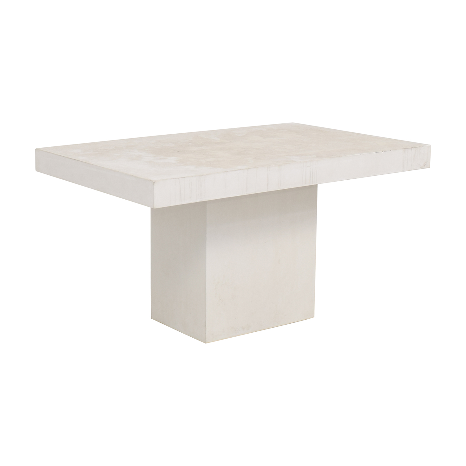 Outstanding 28 Off Cb2 Cb2 Fuze Ivory White Stone Dining Table Tables Caraccident5 Cool Chair Designs And Ideas Caraccident5Info