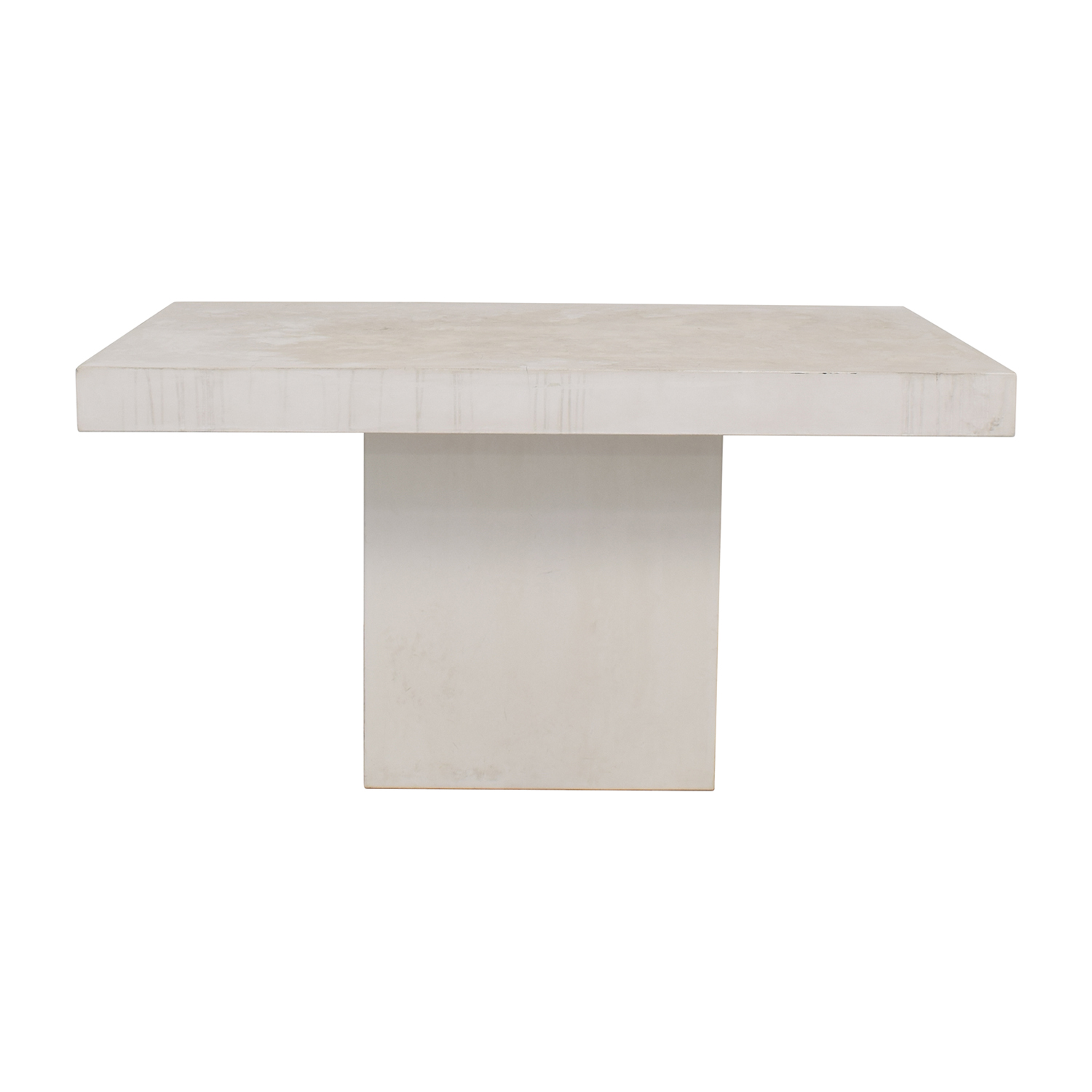 CB2 CB2 Fuze Ivory White Stone Dining Table discount