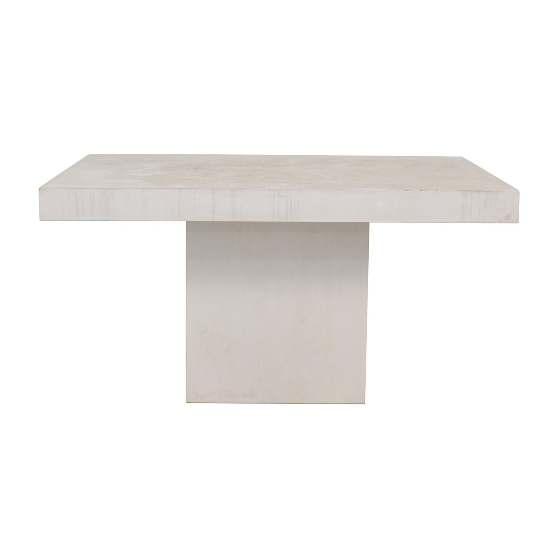 shop CB2 CB2 Fuze Ivory White Stone Dining Table online