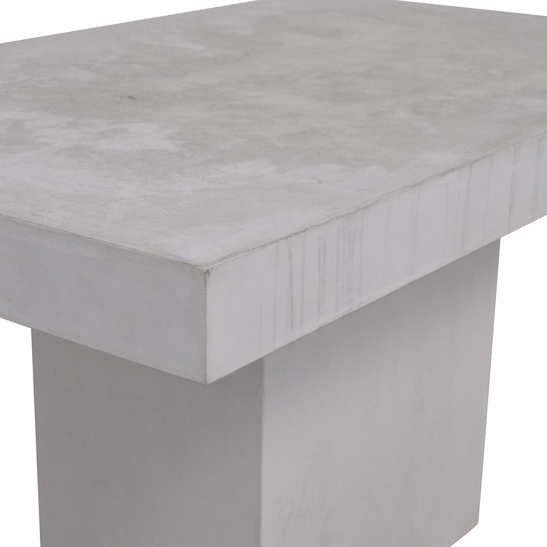 CB2 CB2 Fuze Ivory White Stone Dining Table Dinner Tables