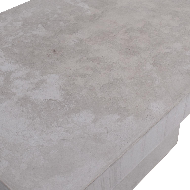 CB2 CB2 Fuze Ivory White Stone Dining Table used