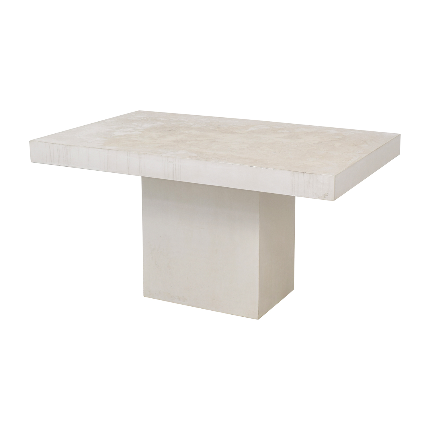 CB2 CB2 Fuze Ivory White Stone Dining Table second hand