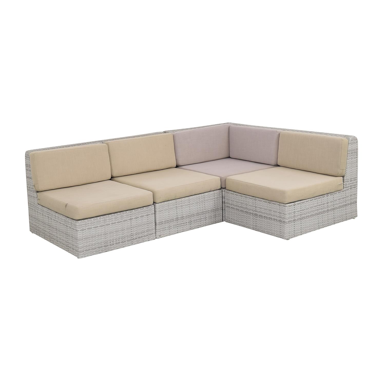 CB2 CB2 Ebb Outdoor Sectional Sofa nj