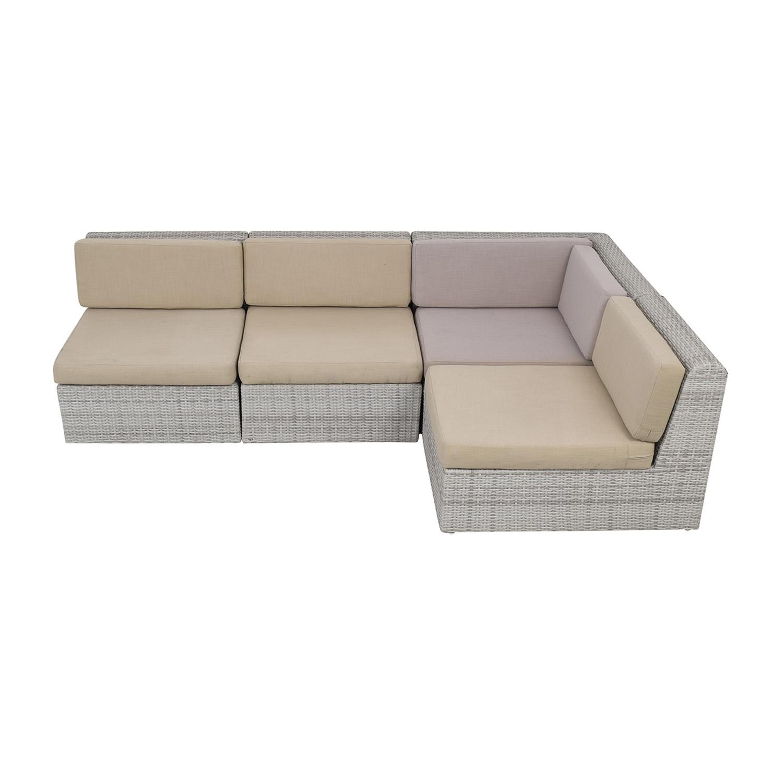 CB2 CB2 Ebb Outdoor Sectional Sofa ma