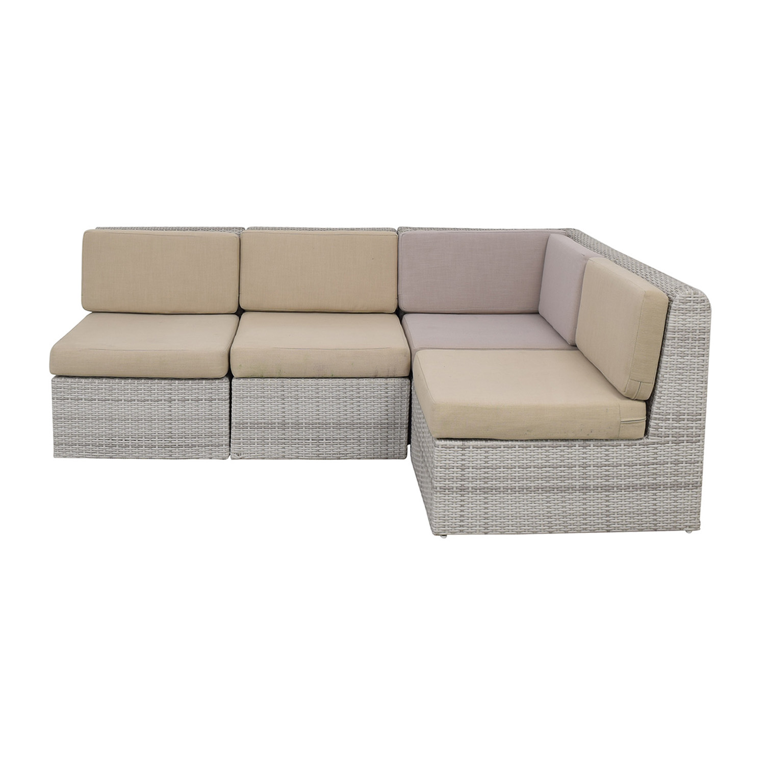 shop CB2 Ebb Outdoor Sectional Sofa CB2 Sofas
