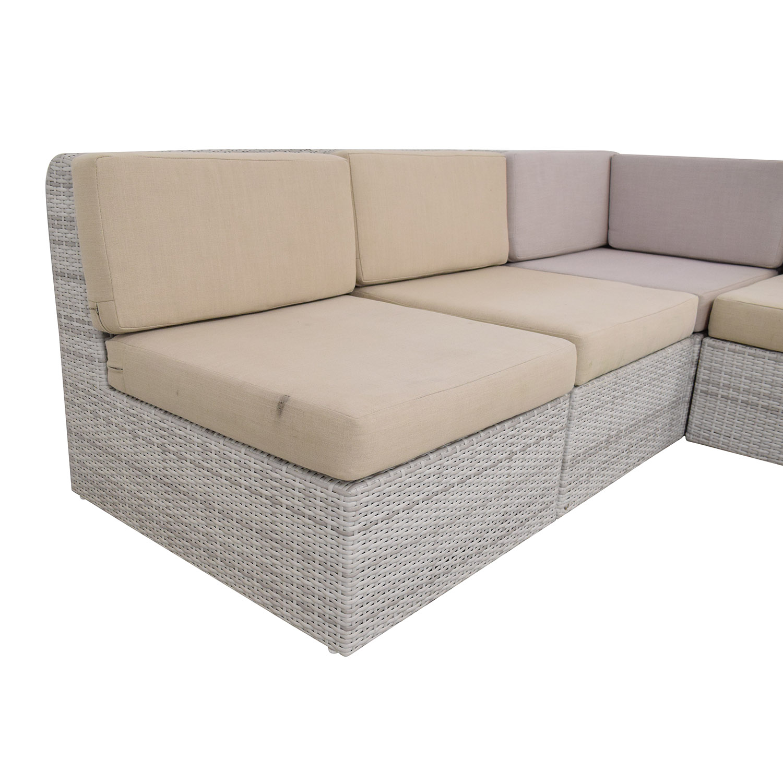 shop CB2 Ebb Outdoor Sectional Sofa CB2