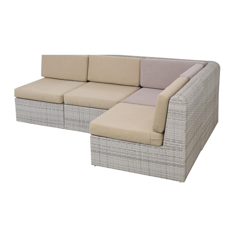 53% OFF - CB2 CB2 Ebb Outdoor Sectional Sofa / Sofas