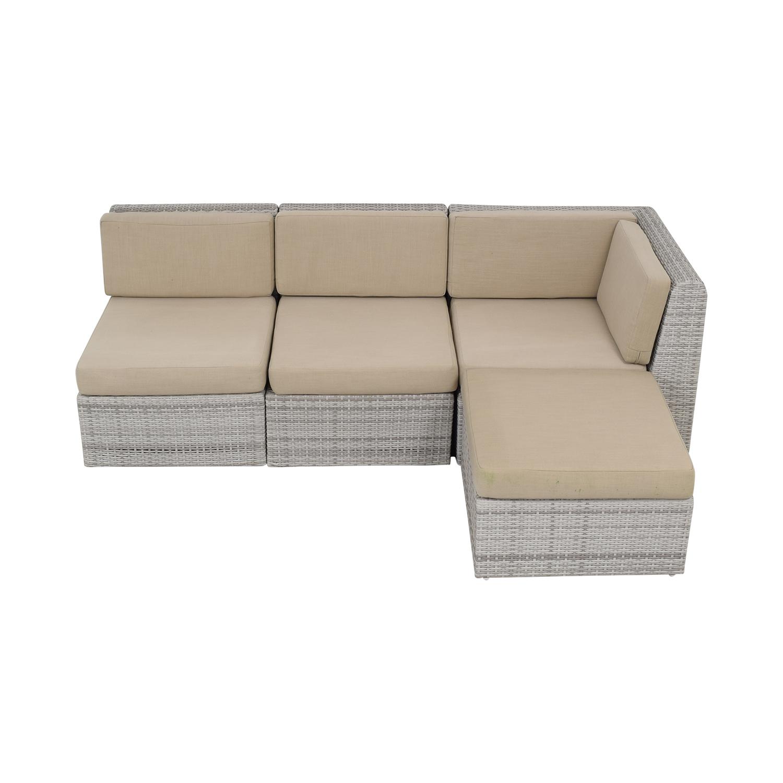 CB2 CB2 Ebb Outdoor Sectional Sofa ct