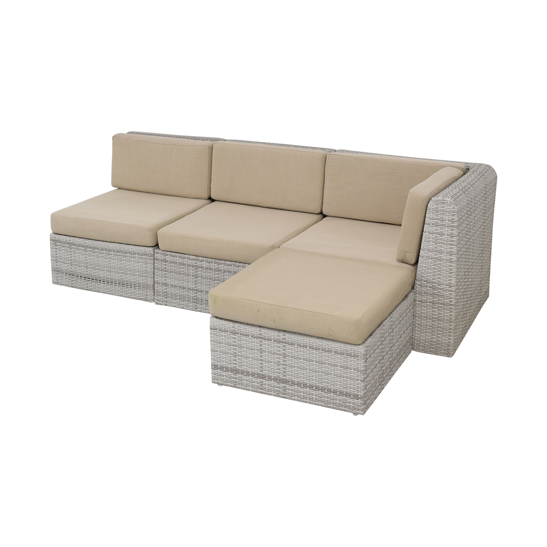 CB2 CB2 Ebb Outdoor Sectional Sofa dimensions