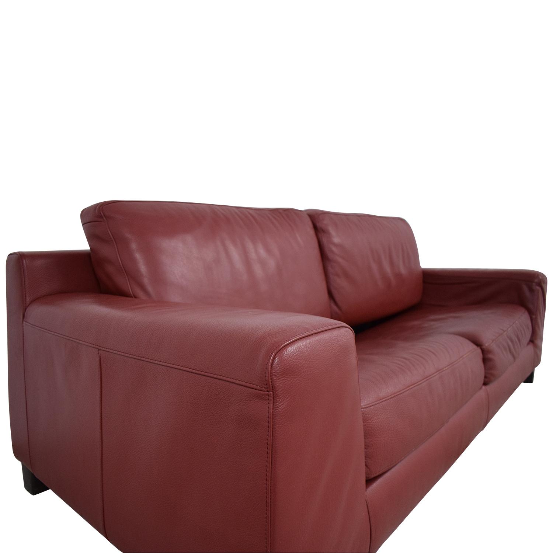 Natuzzi Natuzzi Leather Full Sofa Bed nyc