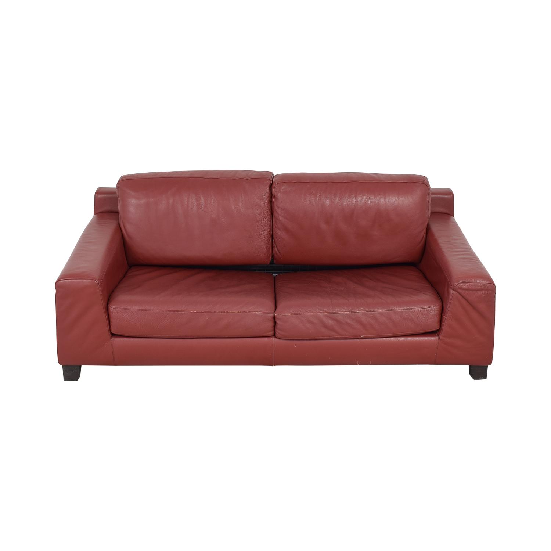 Natuzzi Natuzzi Leather Full Sofa Bed used