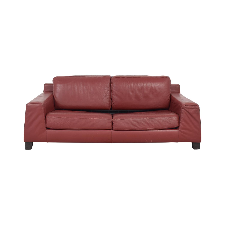 Natuzzi Natuzzi Leather Full Sofa Bed dimensions